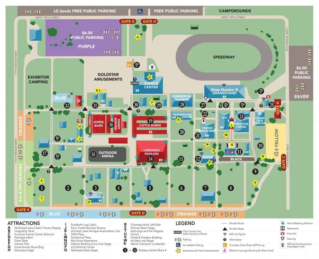 Fairgrounds Map – Clay County Fair And Events - Florida For Florida State Fairgrounds Event Calendar