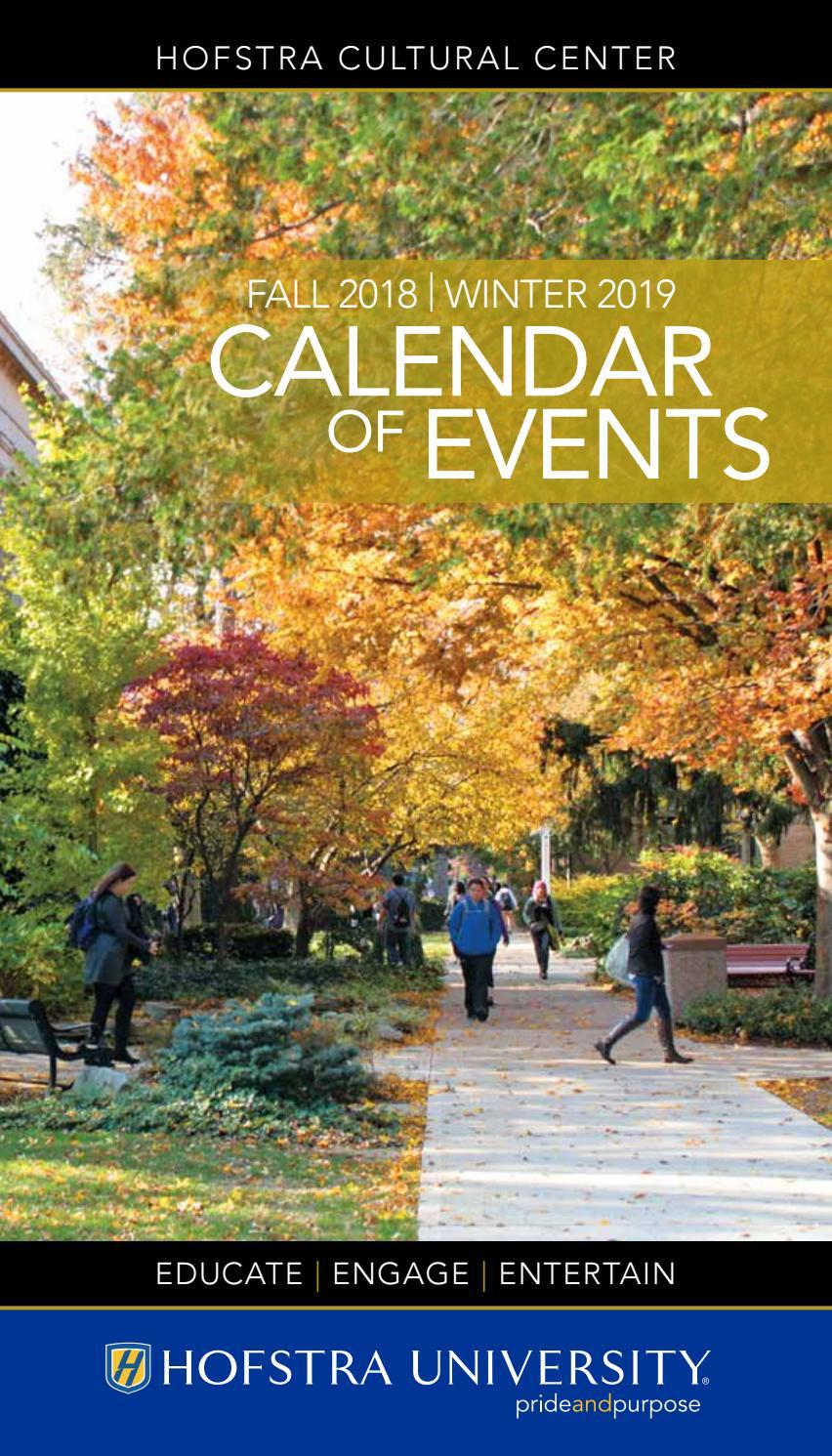 Fall 2018   Winter 2019 Calendar Of Events - Hofstra Throughout University Of Alabama Fall Academic 1991 Calendar