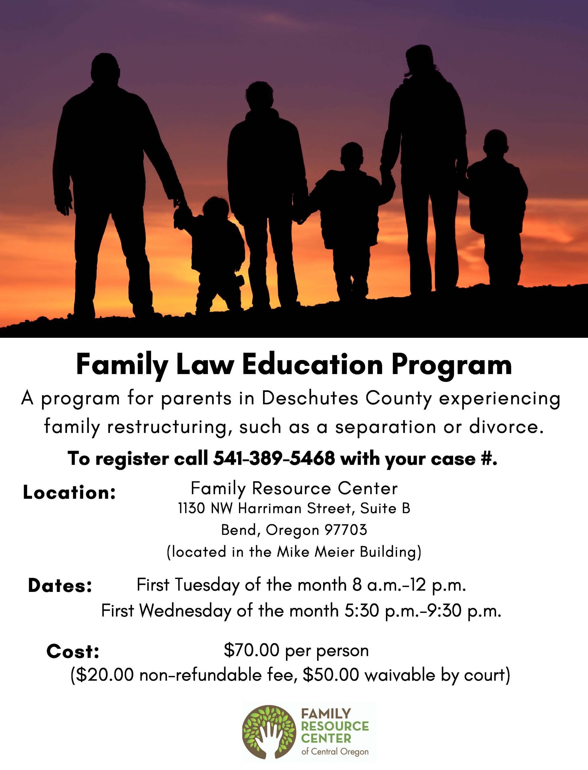 Family Resource Center Of Central Oregon : Calendar & News For Wake Family Law Calendar