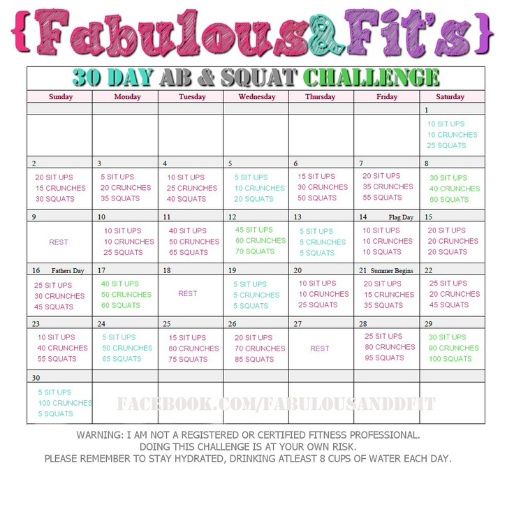 Fitness Challenges 2 | Forever Asleep Inside 30 Day Thigh Challenge Printable