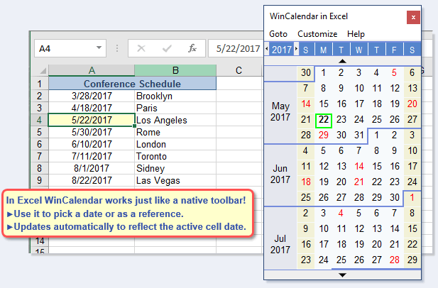Free Excel Pop-Up Calendar & Excel Date Picker | Excel for Create A Drop Down Caledar Excel Sample