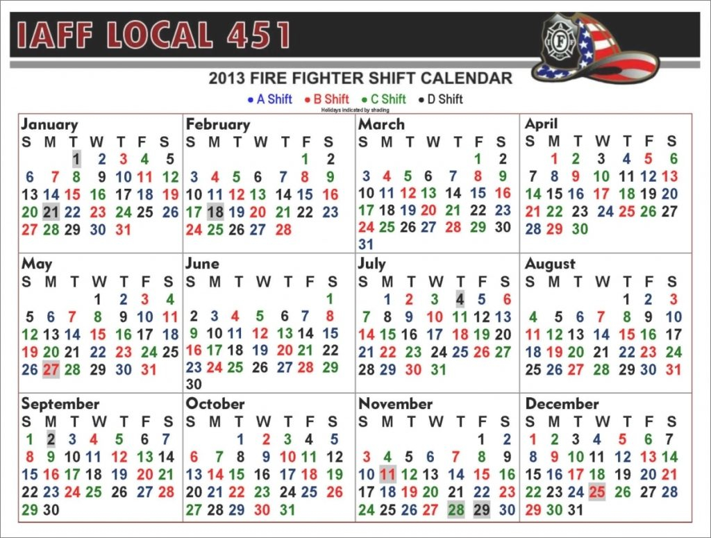 Free Fire Shift Calendar | Calendar Image 2020 Regarding Houston Fire 2021 Shift Calendar