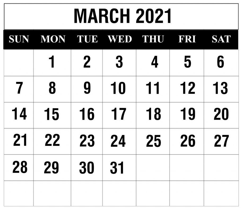 Free March 2021 Printable Calendar Template In Pdf, Excel With Regard To Excel 2021 Calendar Drop Down