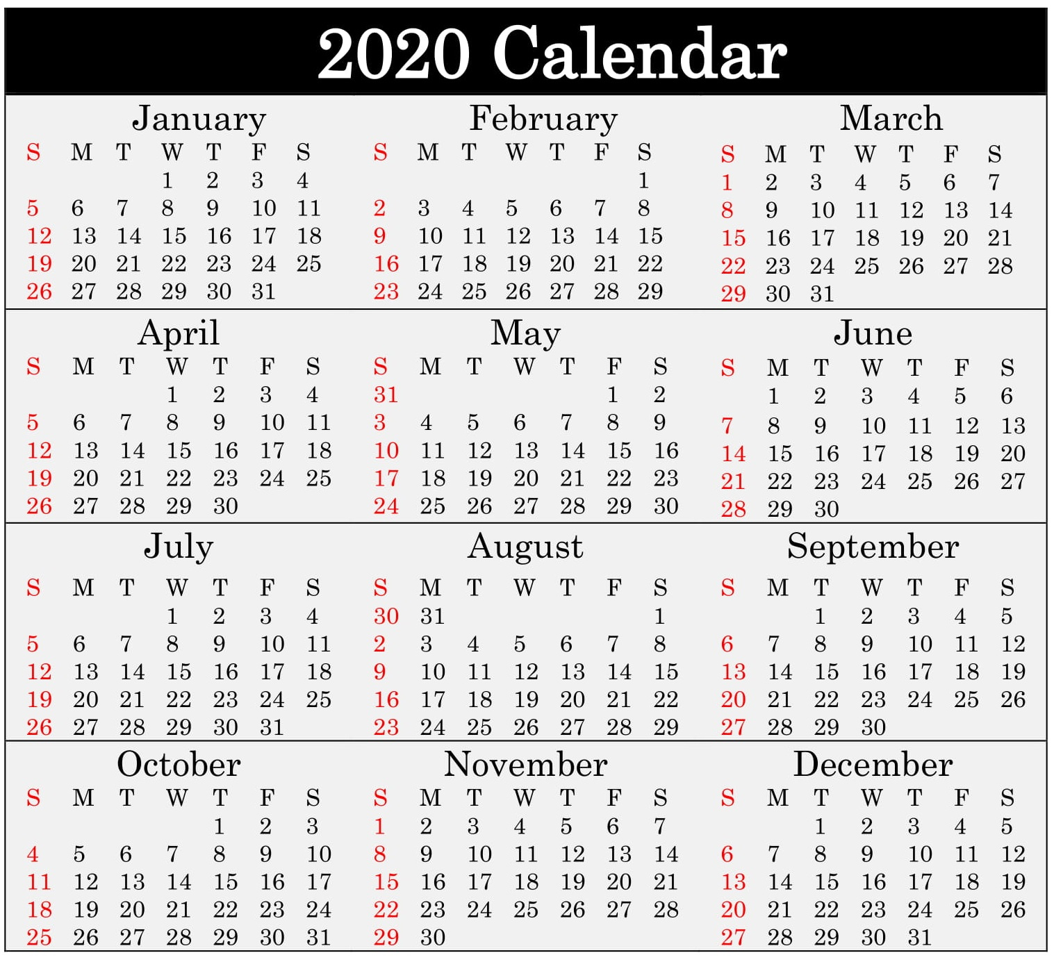 Free Printable 2020 Calendar Word, Pdf, Excel Document regarding Add Seasons To Google Calendar
