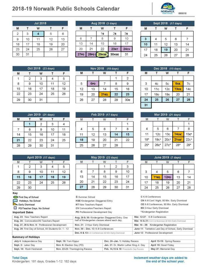 Google Glitch Shows Wrong Dates For Norwalk Schools Intended For Angelo State Printable Academic Calendar
