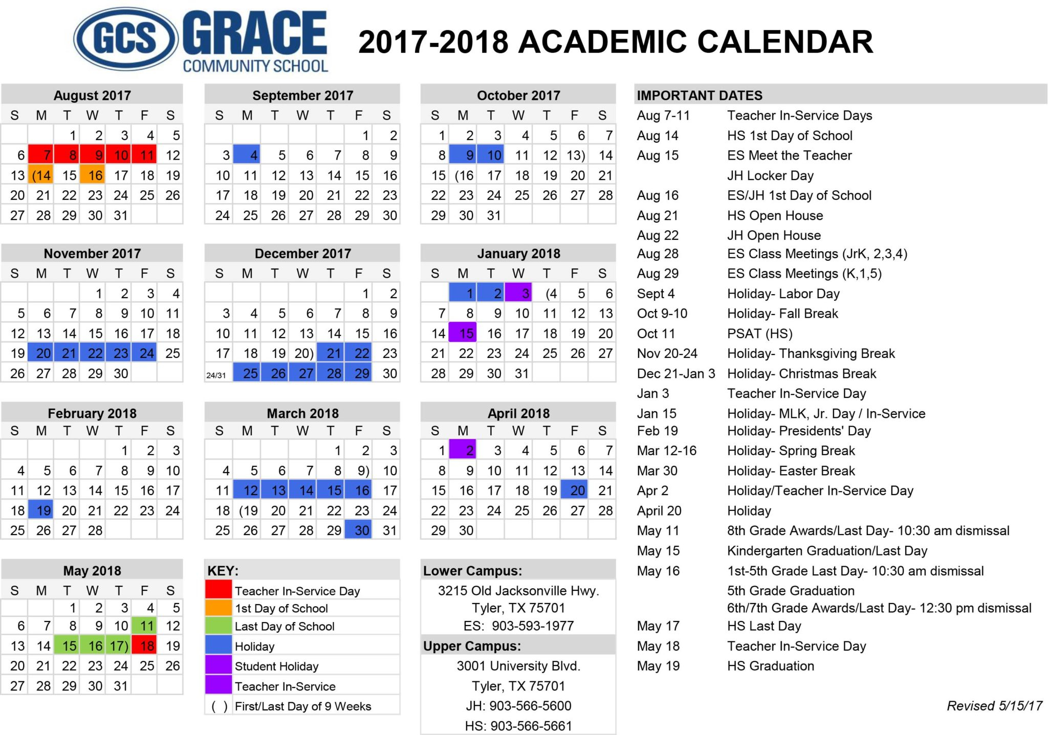 Grace Community School | Tyler Tx | Christian Private School Inside Texas State Univeristy Calendar 2021 2021