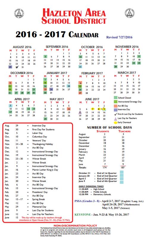 Hazleton News 1 News – Hazleton News 1 With Regard To Hazleton Area School Calendar