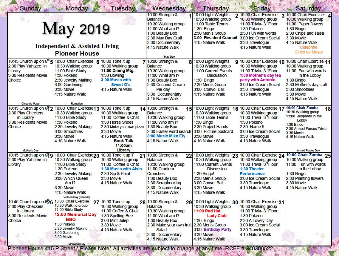 Hobart William Smith Calander | Printable Calendar 2020 2021 Throughout Actievies Calendar For Assisted Living Teplete