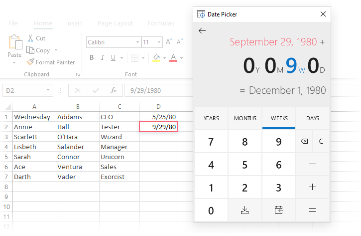 How To Insert Calendar In Excel (Date Picker & Printable For Create A Drop Down Caledar Excel Sample