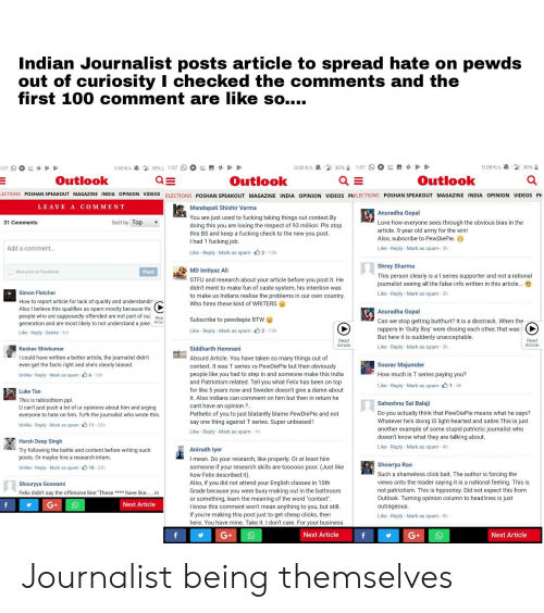 Indian Journalist Posts Article To Spread Hate On Pewds With Regard To Out Of Office Vs Busy Outlook