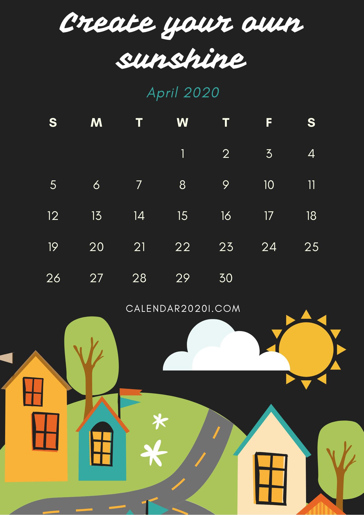 Inspiring April 2020 Calendar With Quotes | Calendar 2020 Regarding April Calendar Quotes And Sayings