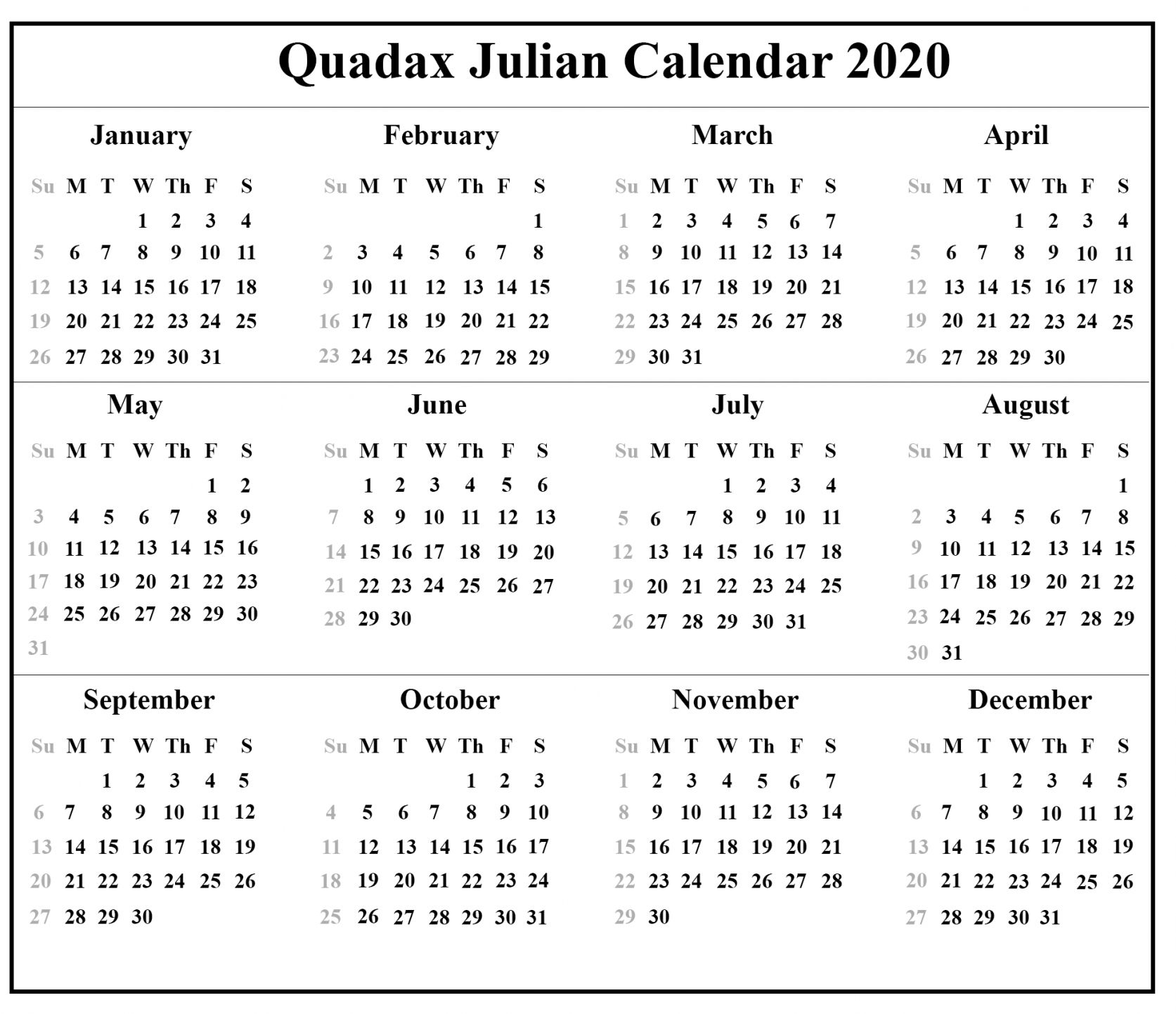 Julian Date Calendar 2021 | Calendar 2020 Template regarding Julian Date Conversion 2021