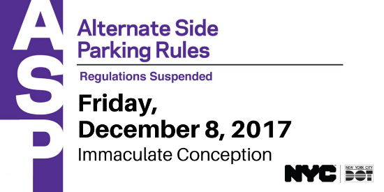 Karmabrooklyn Blog: Alternate Side Parking Suspended On Within Alternate Parking Nyc Calendar