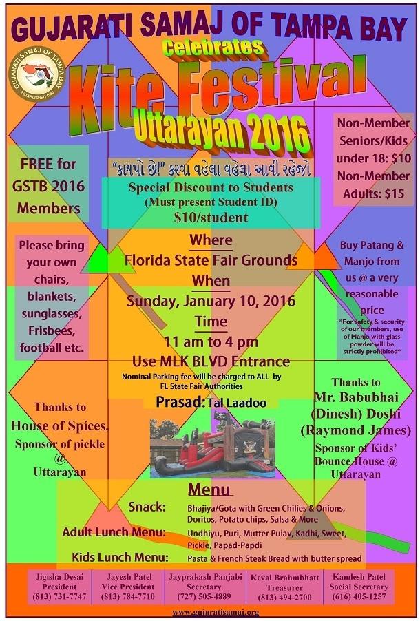 Kite Festival – Uttarayan 2016 At Florida State In Florida State Fairgrounds Event Calendar
