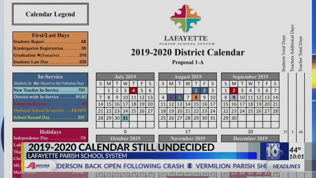 Lafayette Parish School Board Tables Vote On Proposed Inside Iberia Parish School Board Calendar