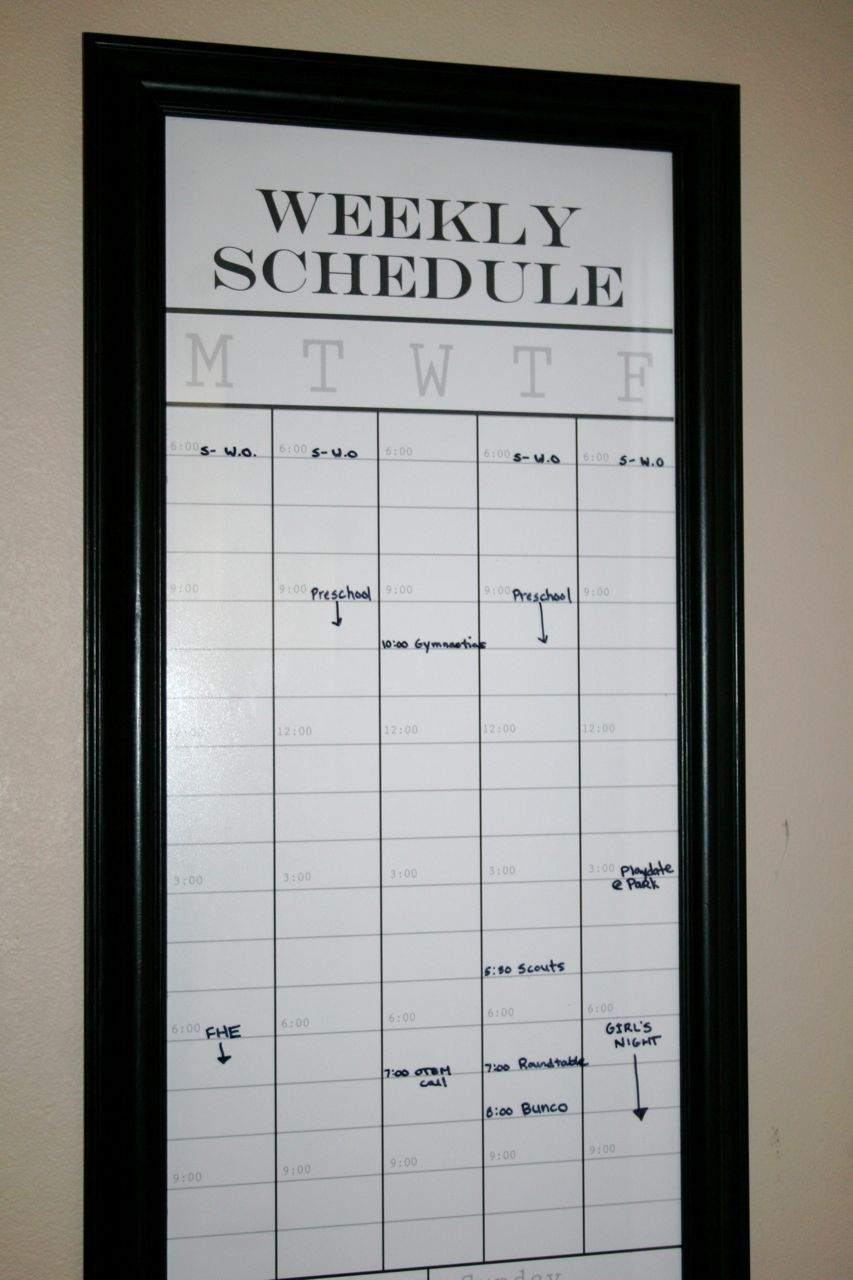 Latest Pic Weekly Schedule Whiteboard Popular When I Wake With Regard To Wake Family Law Calendar