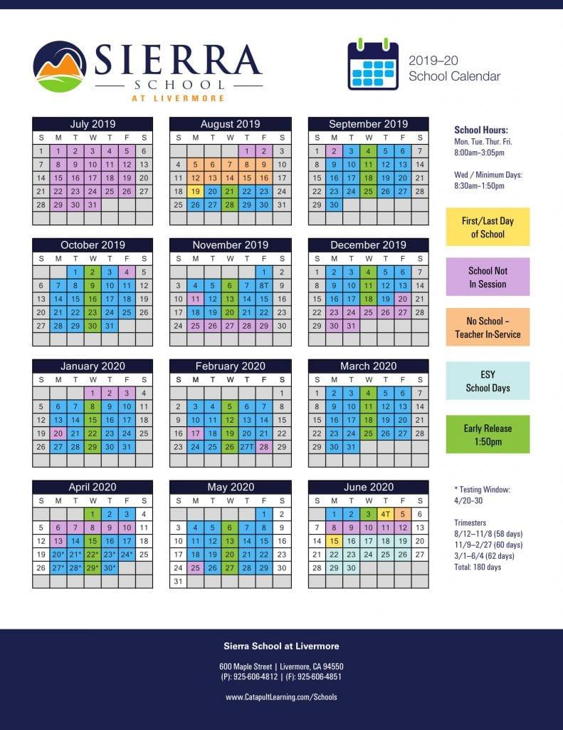 Livermore School Calendar   Printable Calendar 2020 2021 Intended For Lake Orion High School Calendar 2020