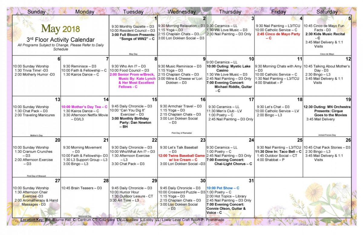 Long Term Care Calendar May 2018 Page 0 - Jones Harrison Within Uwyo Long Tern Calendar
