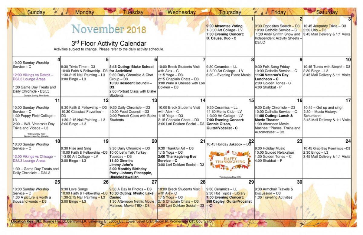 Long Term Care Calendar November 2018 Page 0 - Jones Harrison With Uwyo Long Tern Calendar