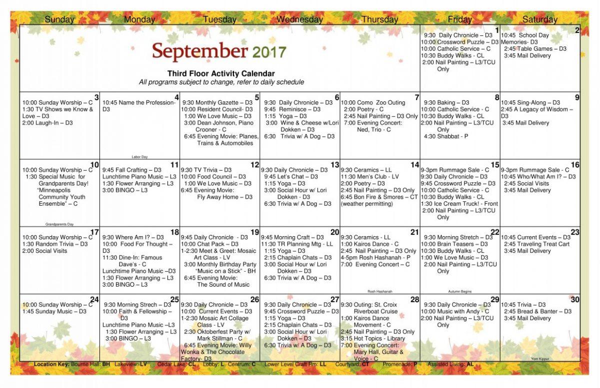 Long Term Care Calendar September 2017 Page 0 – Jones Harrison Intended For Uwyo Long Tern Calendar