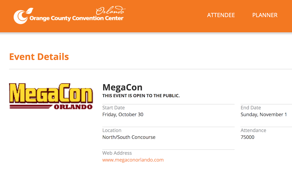 Megacon Orlando Replaces 2020 Convention With 'Limited throughout Orlando Convention Center 2021 Calendar
