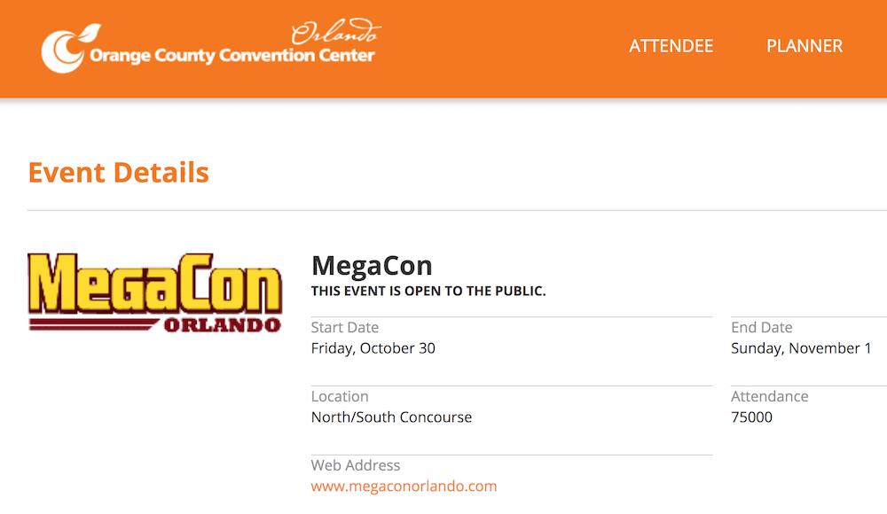 Megacon Orlando Replaces 2020 Convention With 'Limited Throughout Orlando Convention Center 2021 Calendar