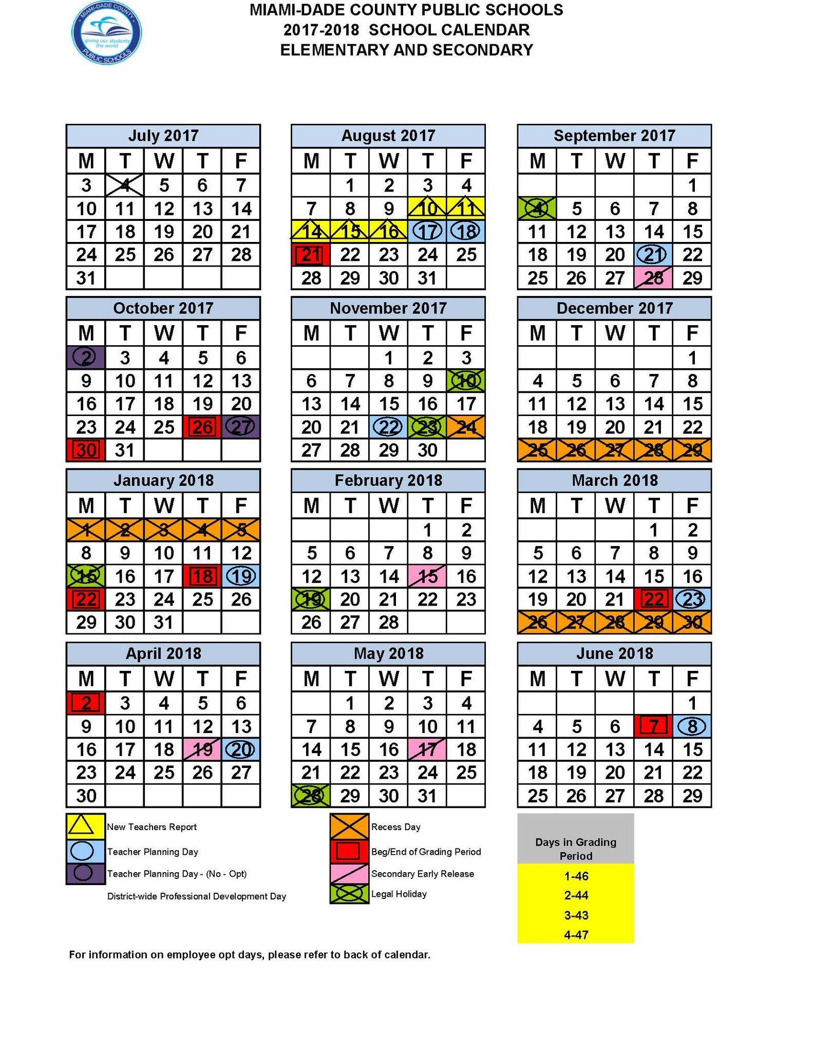 Miami Dade Calendar 2020 | Free Printable Calendar For Middle Early College Nashville Spring Break
