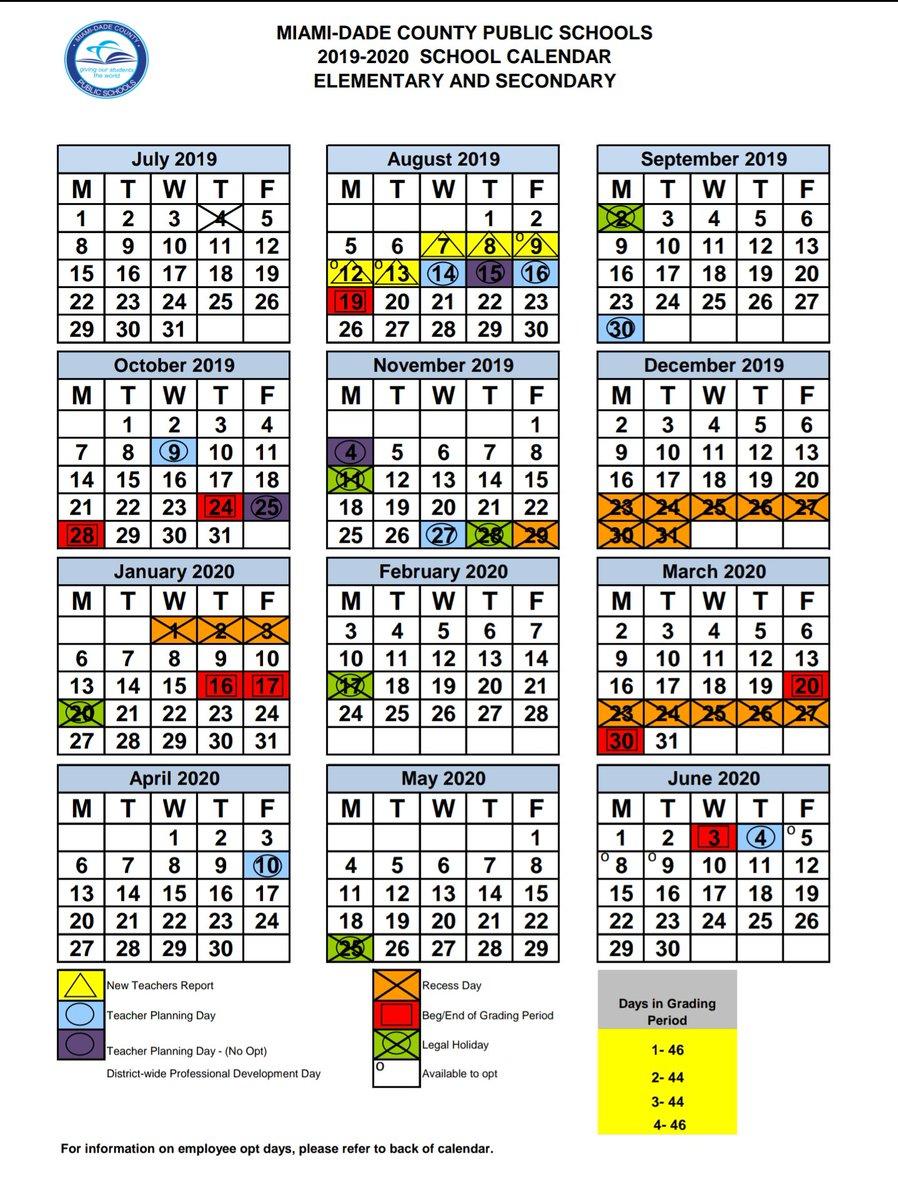 Miami Dade Public School Calendar 2020 17 | Calendar Fall 2020 Intended For Boyertown School District Calendar 2020 17