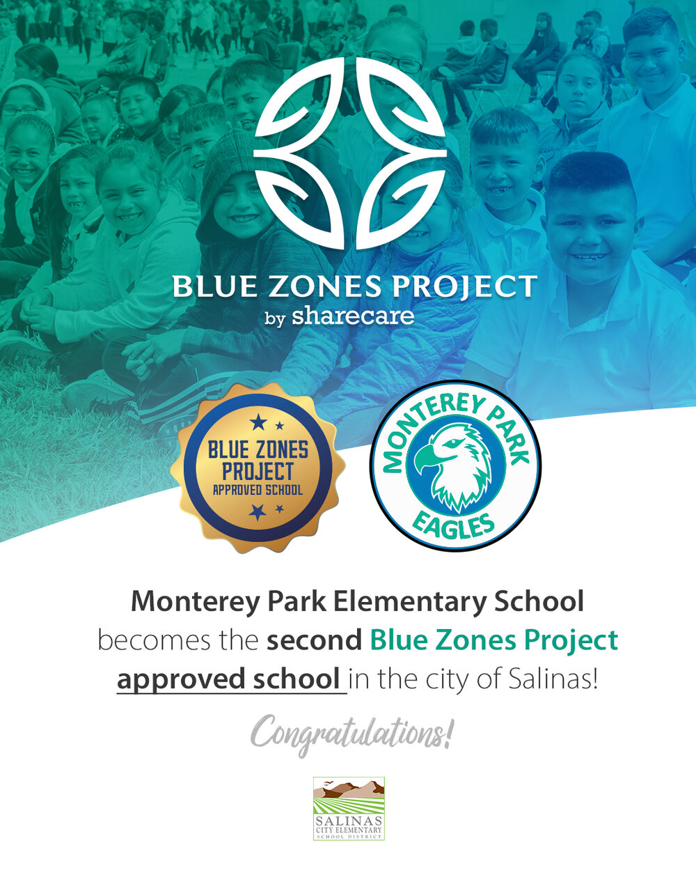 Monterey Park Elementary Becomes The Second Blue Zones Throughout Salinas City Elementary School District Calendar