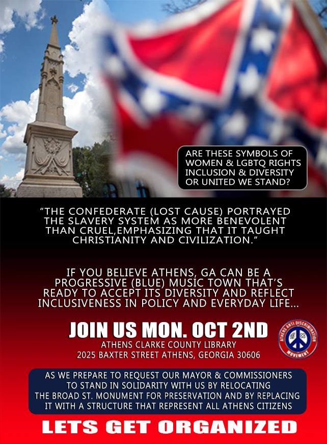 Moving Athens Confederate Monument Open Letter – Athens For Athens Clarke County School Calendar