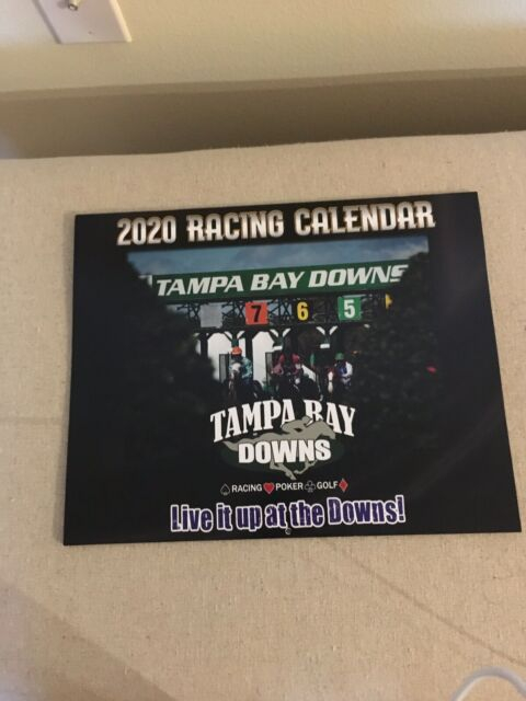 "New 2020 Tampa Bay Downs Horse Racing Calendar 12"" X 10 Within Tampa Bay Downs Schedule"
