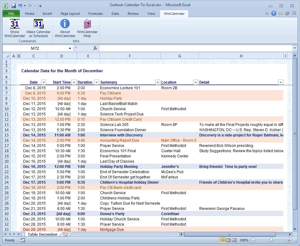 Outlook 2019 Calendar Printing Word Wrap | Calvert Giving Regarding Convert Excel Sheet To Calendar