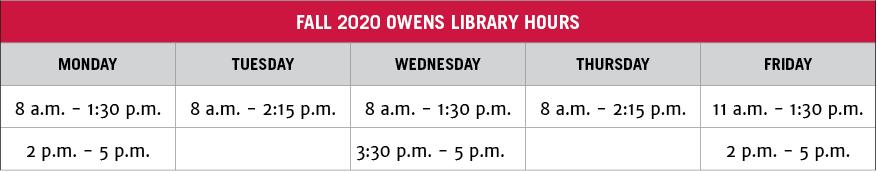 Owens Library | Resources | College Of Environment + Design Regarding Owens Community College Calendar