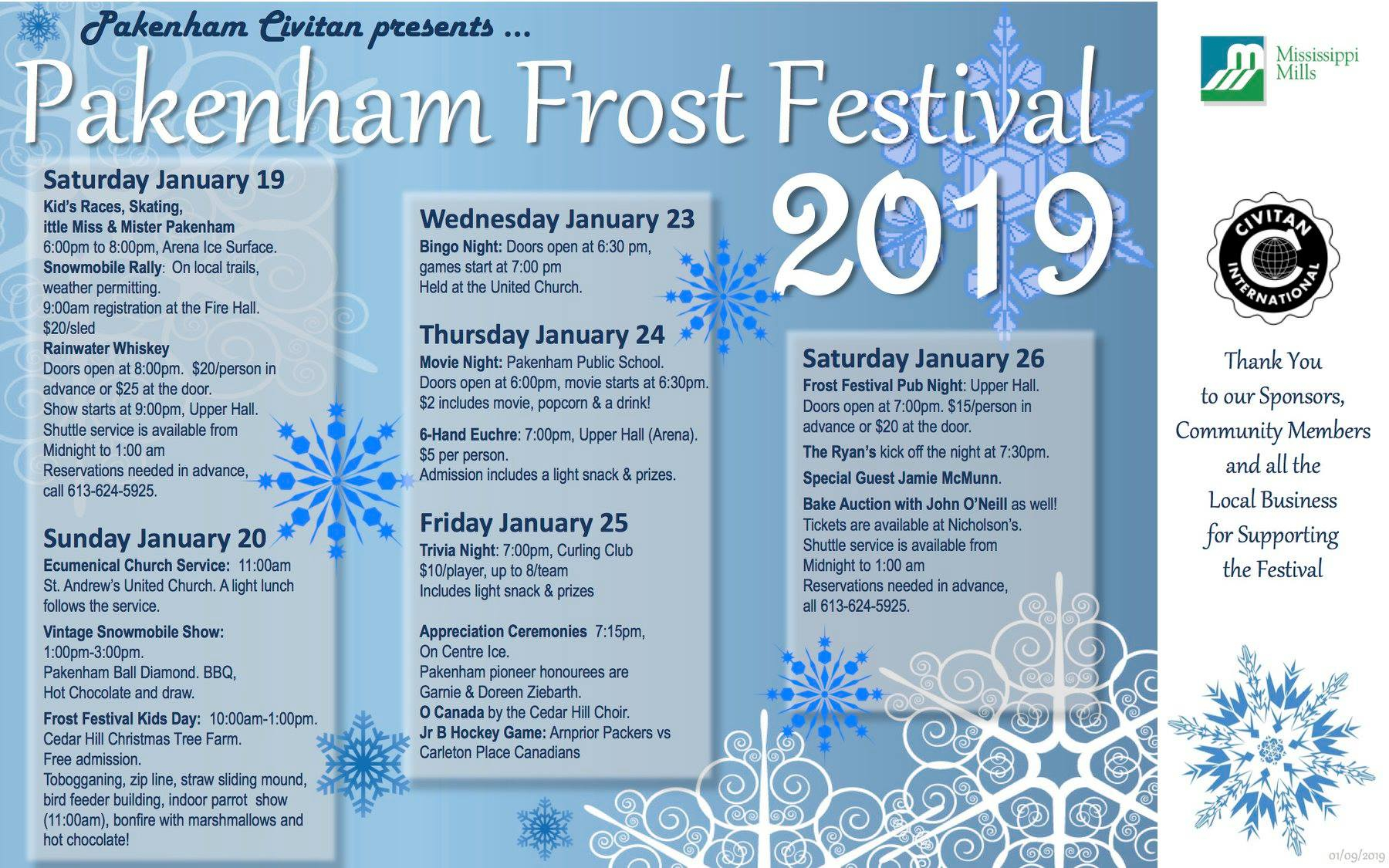 Pakenham Frost Festival - Lanark County Tourism Throughout College Of Lake County Calendar 2021