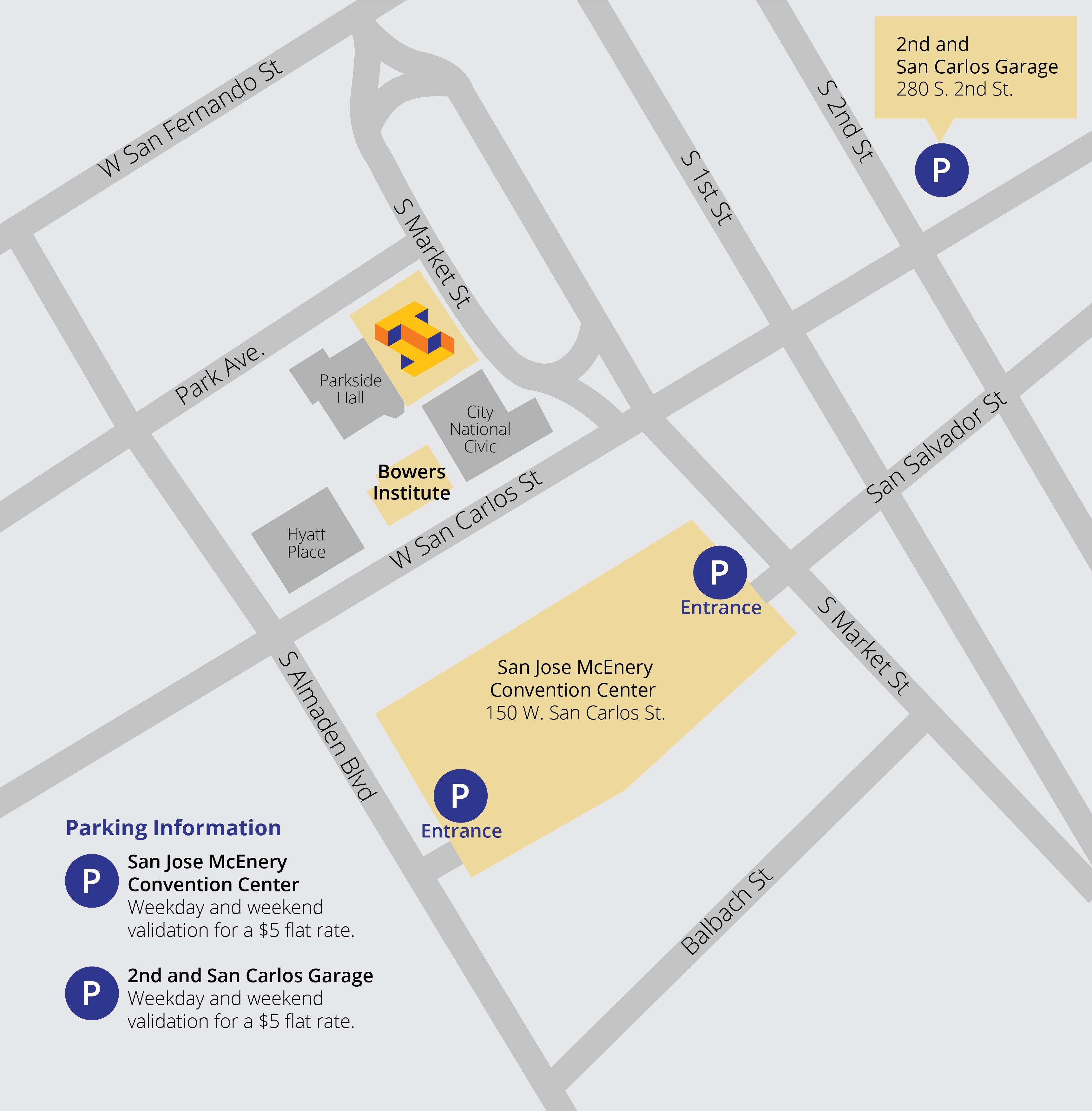 Parking | The Tech With San Jose Convention Center Callendar