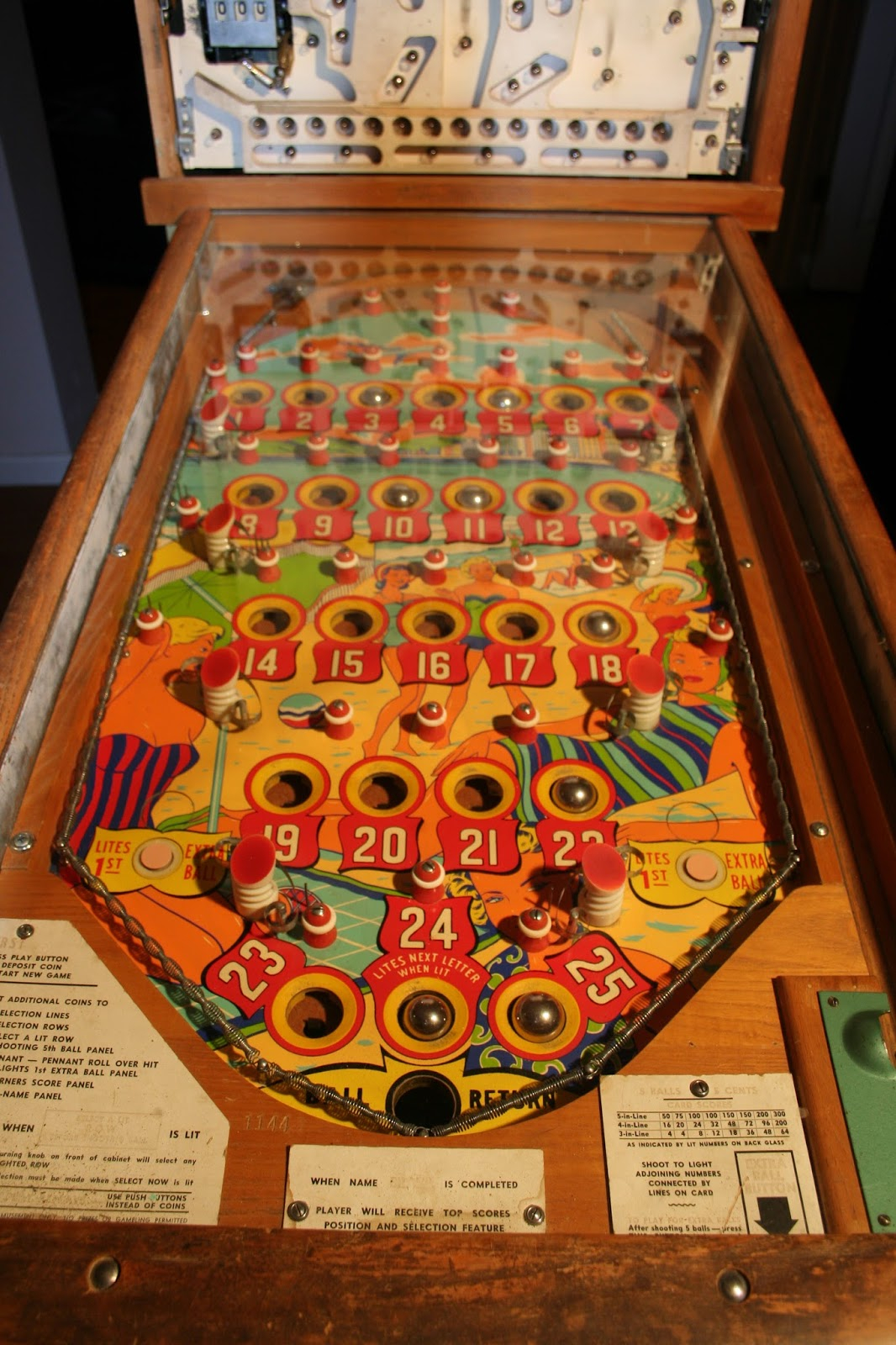 Pinball Repair And Fun: United Brazil Bingo Pinball regarding Bingo At Turning Stone March 13