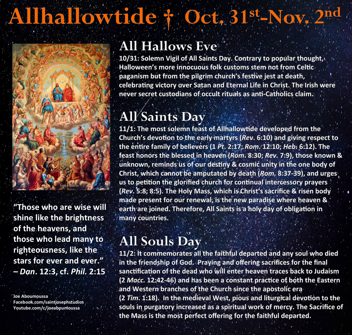 Pinlynne Dunker On Halloween (With Images) | Catholic Within Catholic Saint Of The Day Calendar