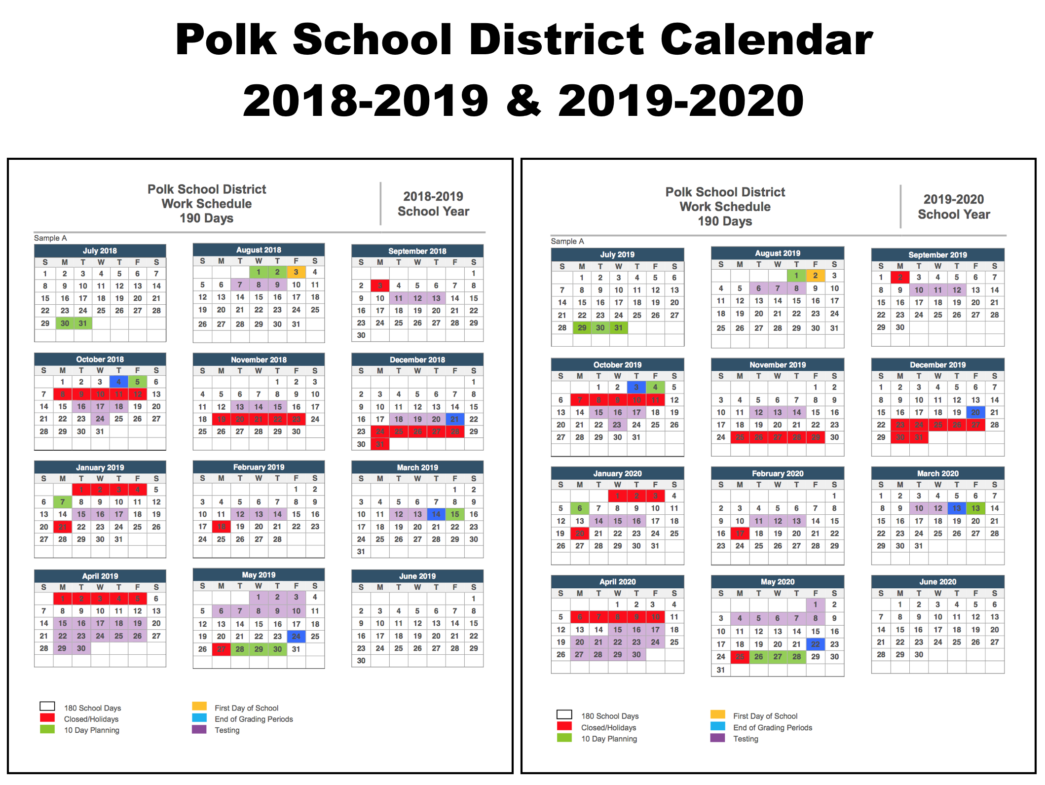 Polk County School Calendar 2020 17 | Calendar Fall 2020 For University Of Albany Ga School Calendar