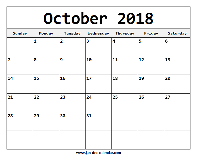 Print Monthly 2018 Calendar Template | Month Wise Calendar Intended For Does Frontier Have Monthly Fare Calendar