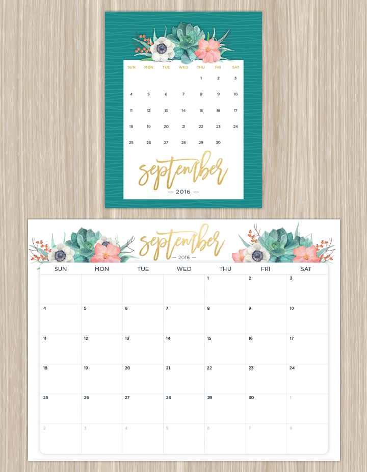 Printable Calendars For A More Floral 2019 | Free Within How To Create Countdown 2 Year Calendar Starting In April