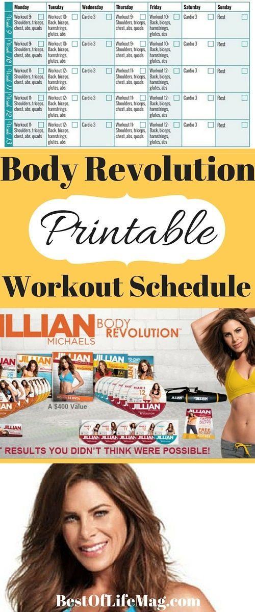 Printable Workout Schedule For Jillian Michaels Body Regarding Jilian Michaels Body Revolution Calendar