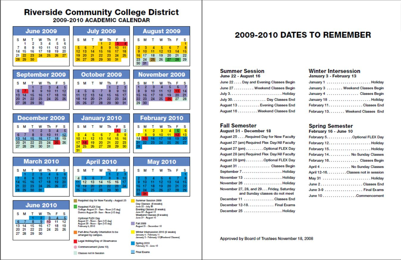 Rccd Academic Calendar | Class Schedules Fall 2006 – Fall Inside Spring Calendar 2020 Collin County Community College