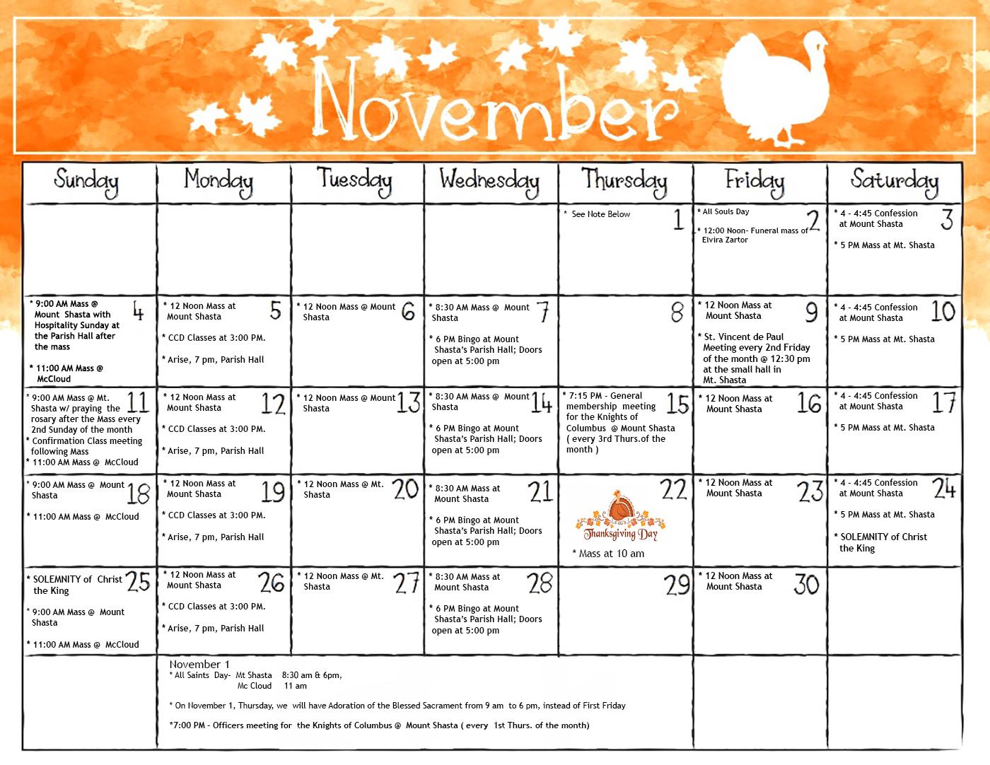 Saint Anthony Catholic Church,Mount Shasta, California Intended For Shasta County Court Calendar