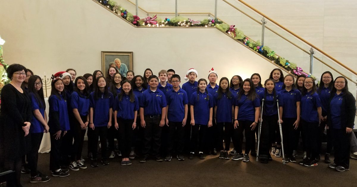 San Gabriel Unified Choir Brings Holiday Cheer To Cancer With Buena Park School District Holidays