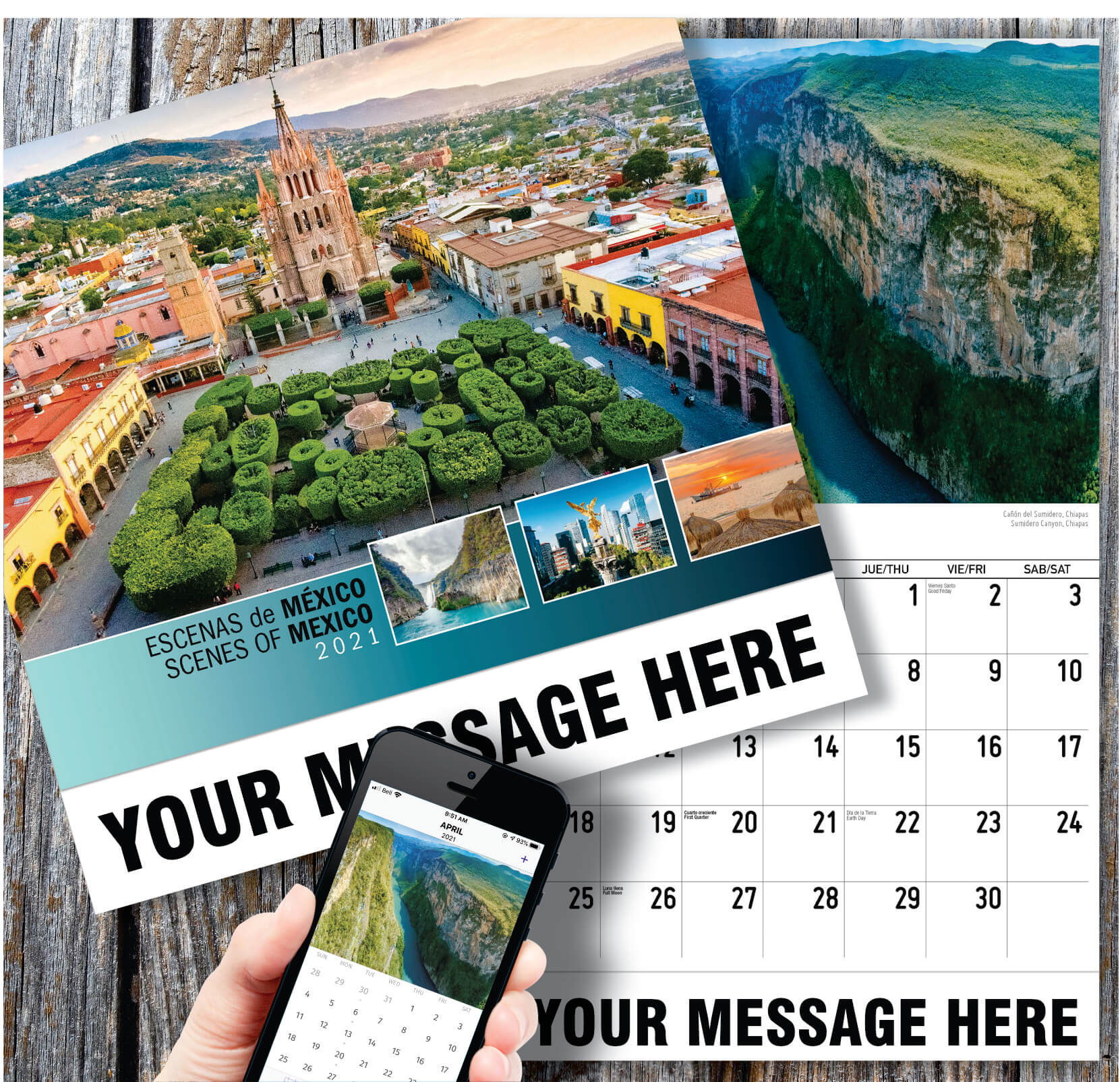 Scenes Of Mexico Spanish English 2021 Promotional Calendar Pertaining To Mexican Calendars With Day Suggested Names