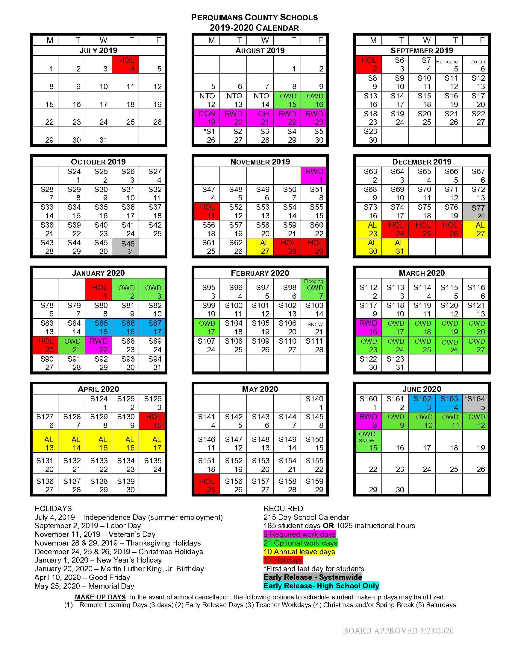 School Calendar 2020 2021 - Perquimans School District With Regard To Woodbridge Township School District Student Calender2021 2020 School Year