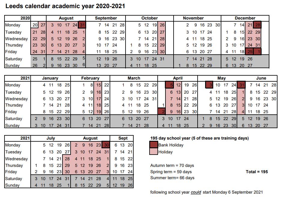 School Calendar | Harehills Primary School Inside Colorado Springs District 20 2021 20 School Calendar