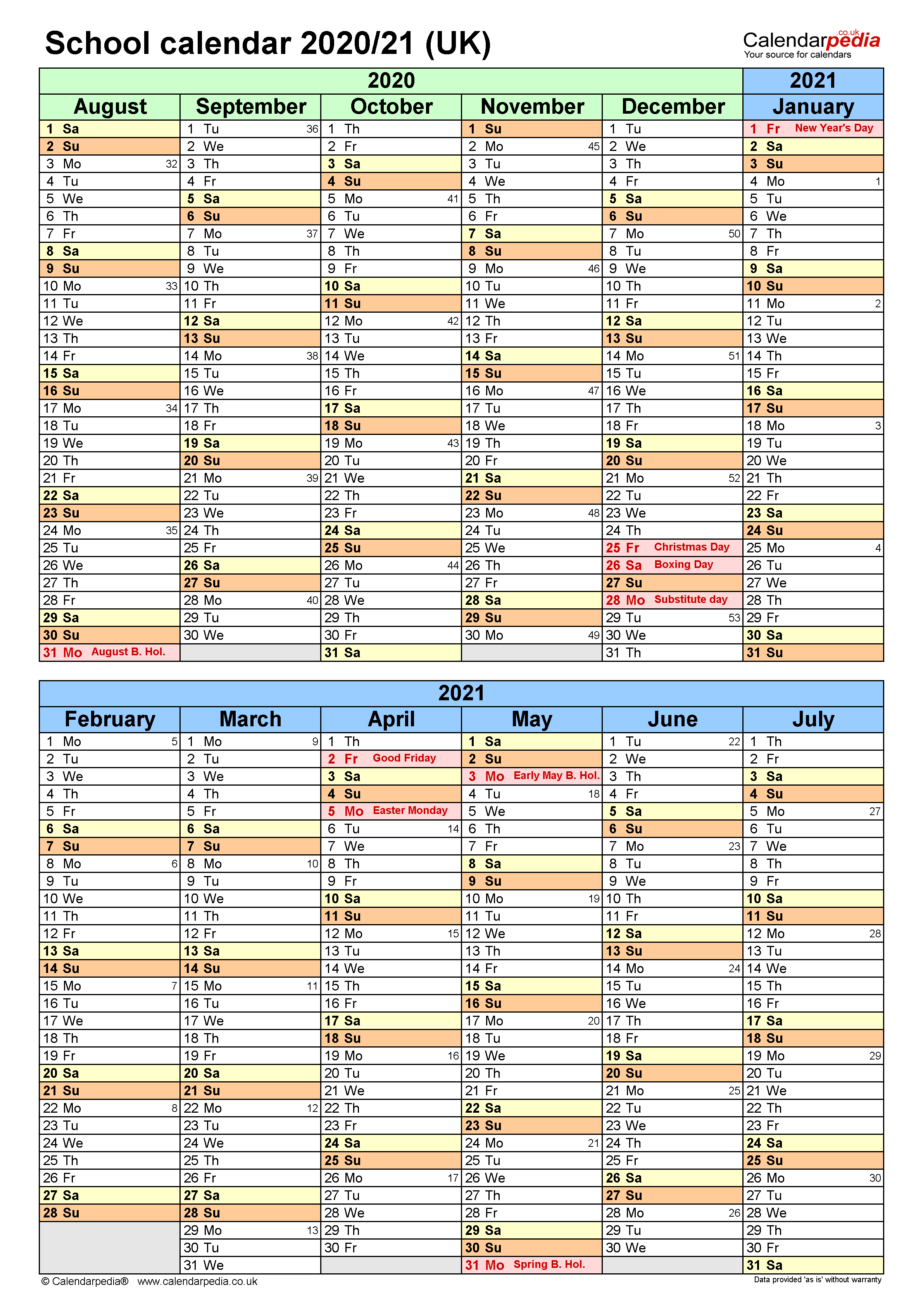 School Calendars 2020/2021 As Free Printable Word Templates With Regard To Colorado Springs District 20 2021 20 School Calendar