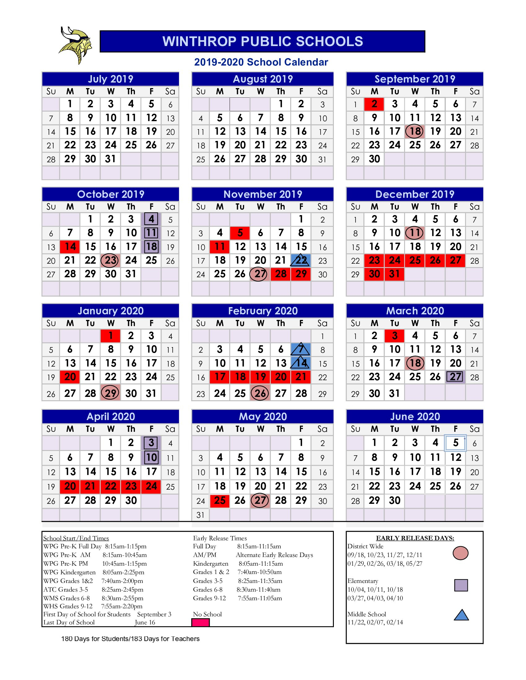 School District 93 Calendar For 2020  2021 | Printable Intended For Academic Calendar 2021 20 Chamberlain