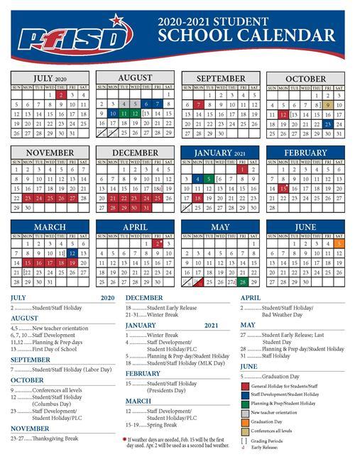 School Year Calendar / 2020 2021 District Calendar Throughout West Bloomfield School Calendar 2021  2020